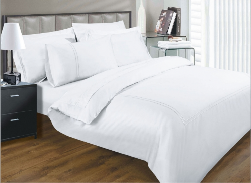 330 THREAD COUNT ELEGANCE WHITE COLOUR LUXURY EGYPTIAN COTTON SUPERIOR QUALITY 5* HOTEL BEDDING